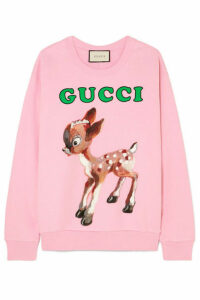Gucci - Printed Cotton-jersey Sweatshirt - Pink