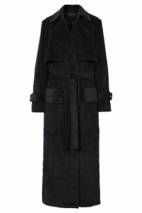 Michael Lo Sordo - Cotton-corduroy Trench Coat - Black
