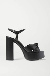 Halpern - Off-the-shoulder Sequined Tulle Top - Black