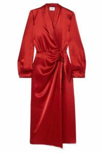 Nanushka - Ezra Satin Wrap Dress - Red