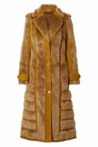 Acne Studios - Faux Fur-trimmed Bouclé Coat - Saffron