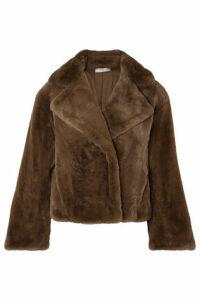 Vince - Faux Fur Coat - Brown