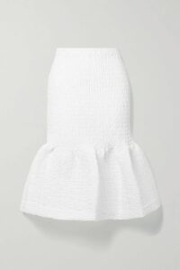Monse - Asymmetric Paneled Checked Wool-blend Midi Skirt - Tan