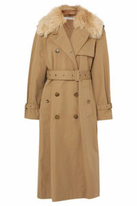 Elizabeth and James - Stratford Shearling-trimmed Cotton-blend Twill Trench Coat - Camel