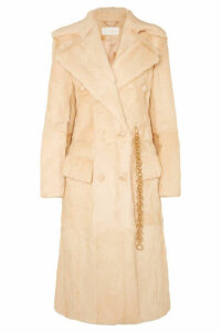Chloé - Double-breasted Shearling Coat - Beige