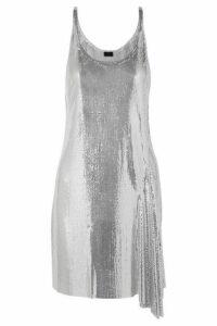 Paco Rabanne - Metallic Chainmail Mini Dress - Silver