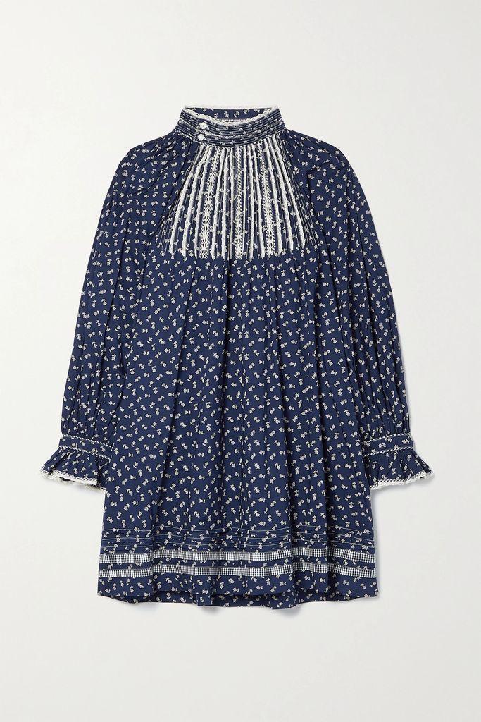 Gucci - Velvet And Grosgrain-trimmed Macramé Lace Jacket - Black