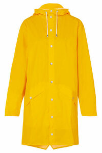 Rains - Hooded Matte-pu Raincoat - Yellow