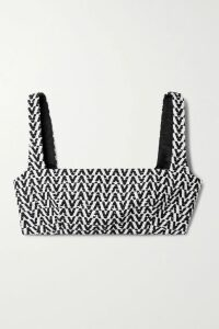 ALEXACHUNG - Belted Checked Wool-blend Coat - Pastel yellow