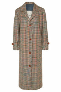 Giuliva Heritage Collection - Maria Checked Wool Coat - Beige
