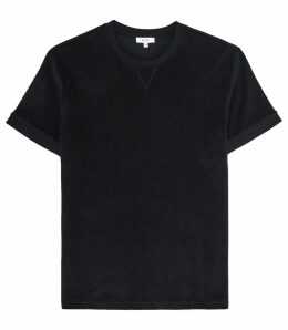 Reiss Terry - Towelling T-shirt in Navy, Mens, Size XXL