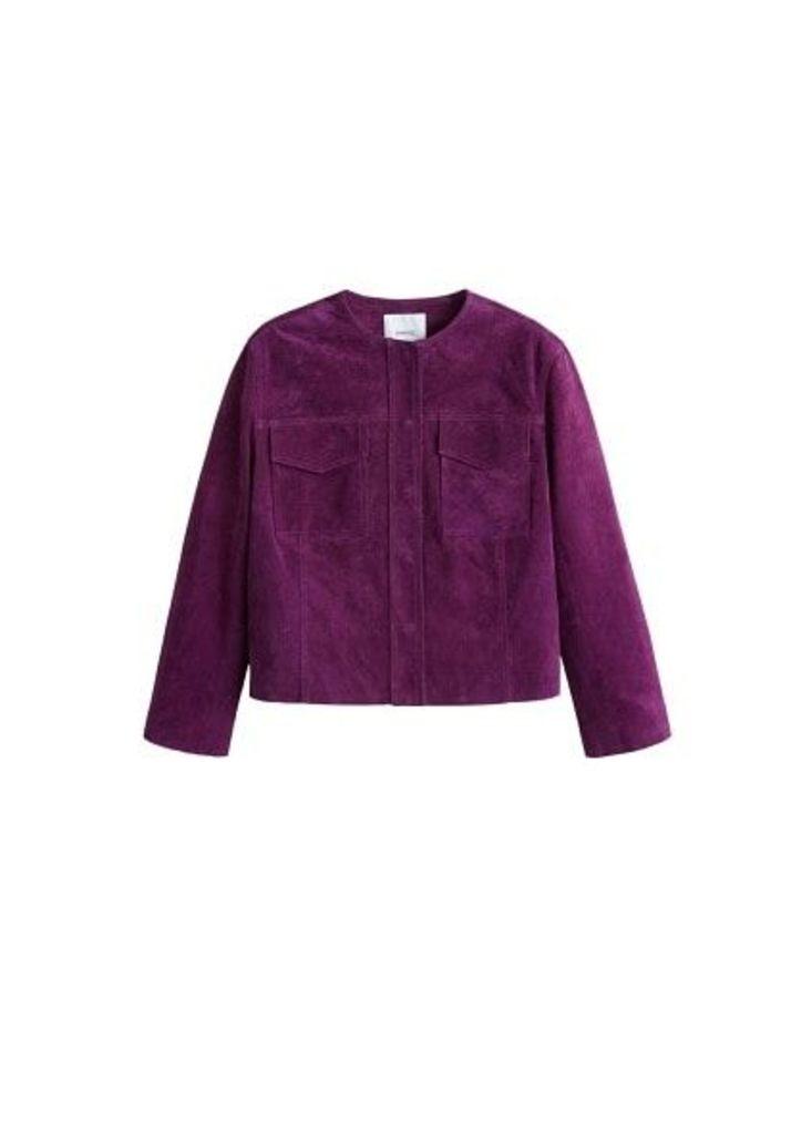 Pocket leather jacket
