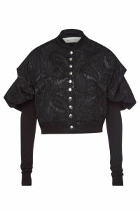 Marques' Almeida Cropped Jacquard Blazer with Puffed Shoulders