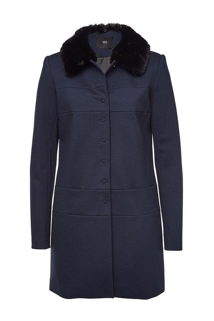 Steffen Schraut Coat with Faux Fur Collar