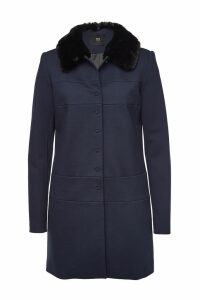 Steffen Schraut Coat with Faux Fur Collar
