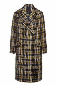 Steffen Schraut Checked Coat with Faux Fur Belt