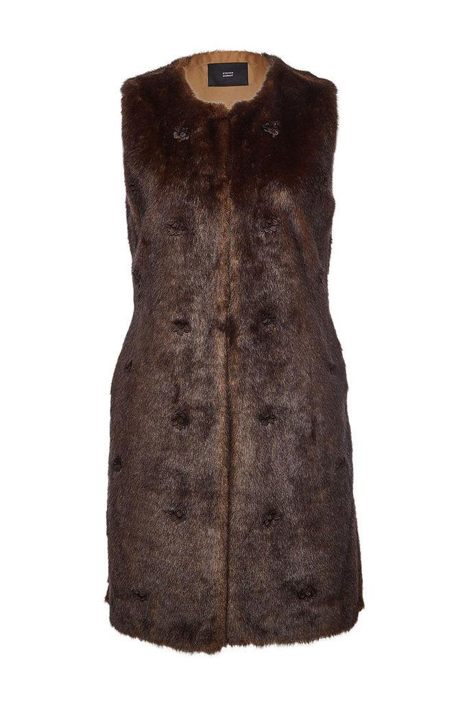 Steffen Schraut Embellished Faux Fur Vest