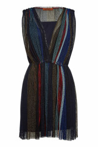 Missoni V-Neck Dress with Metallic Thread
