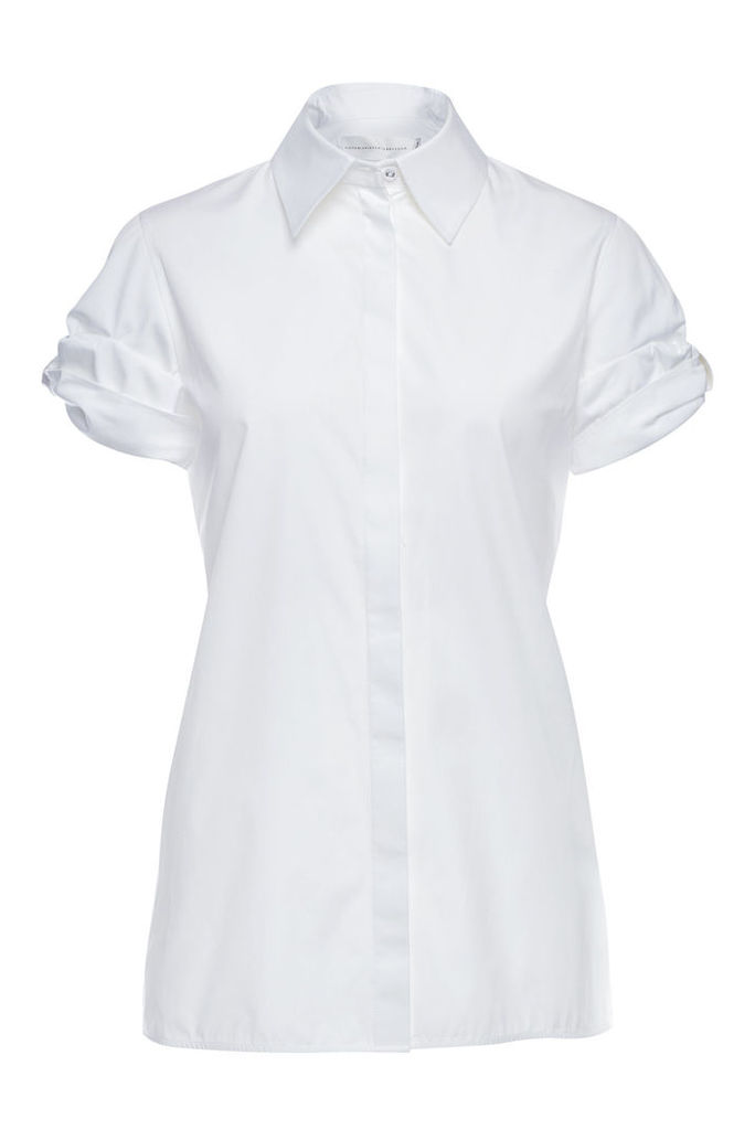 Victoria Victoria Beckham Bow Sleeve Cotton Shirt