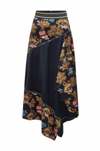 Peter Pilotto Asymmetric Silk Skirt
