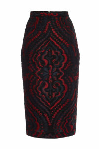 Roland Mouret Norley Skirt with Silk and Cotton