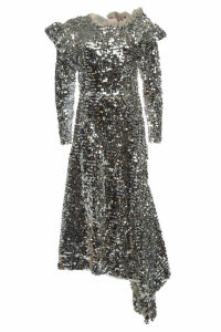 Preen by Thornton Bregazzi Jodie Sequinned Dress with Asymmetric Hem