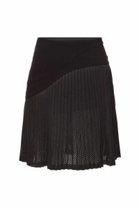 Karl Lagerfeld Pleated Mesh Skirt