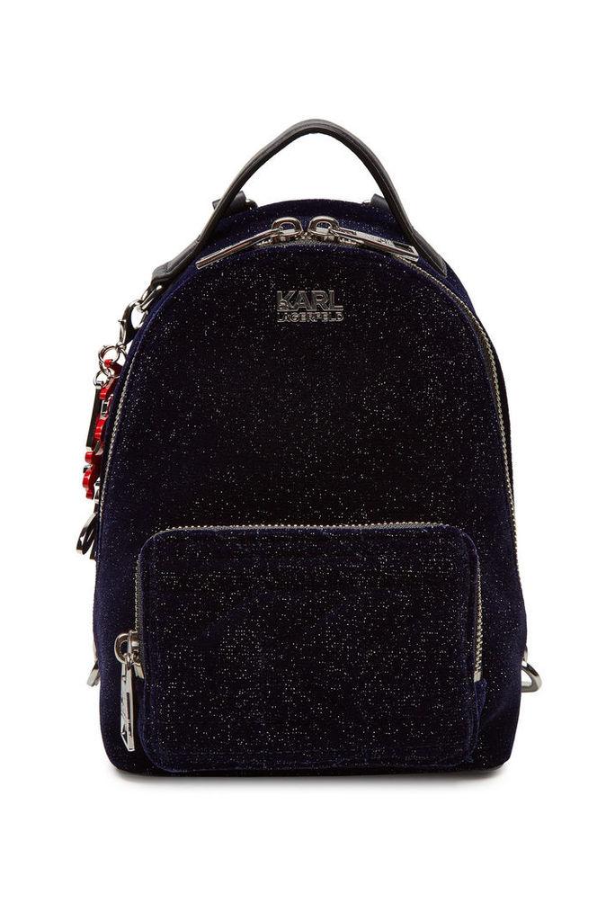 Karl X Kaia Gerber Karl x Kaia Gerber Mini Velvet Backpack