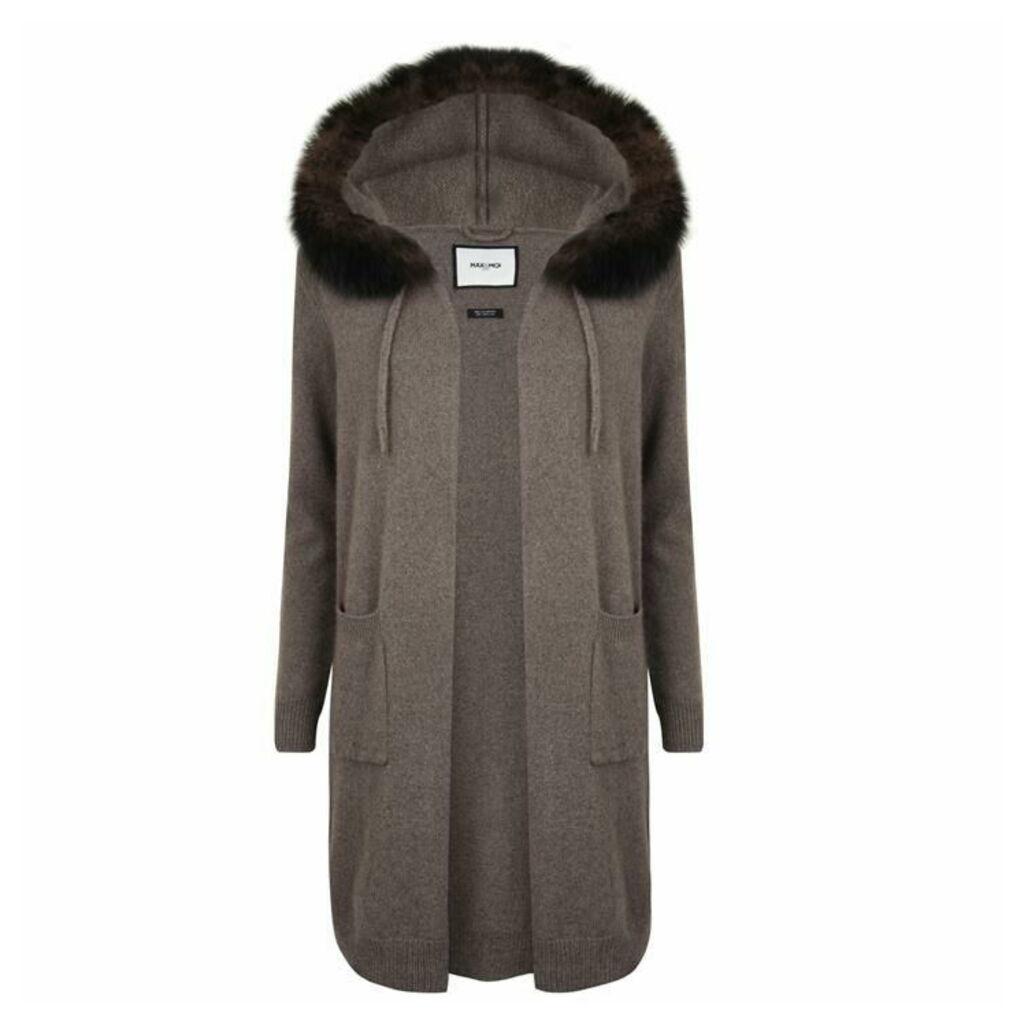 MAX ET MOI Roan Fox Fur Cardigan
