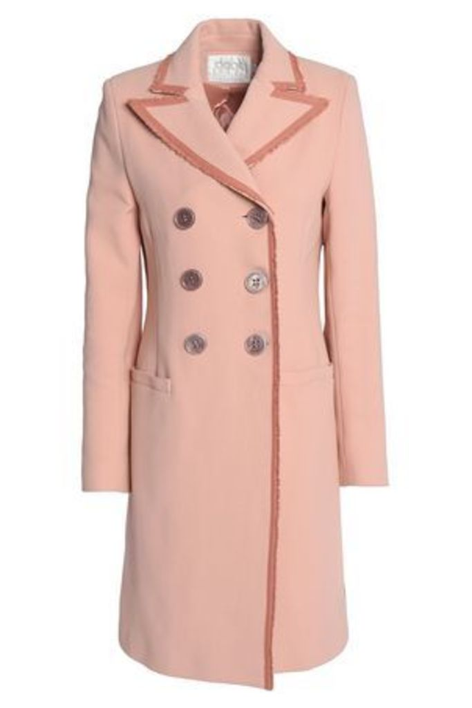 Goat Woman Double-breasted Cotton Jacket Blush Size 8
