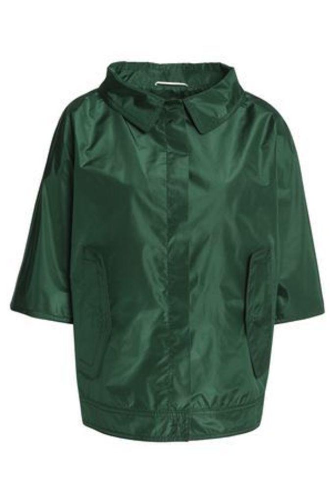 Rochas Woman Silk-shell Jacket Emerald Size 38