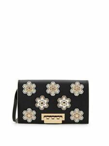 Earthette Embellished Leather Crossbody Bag
