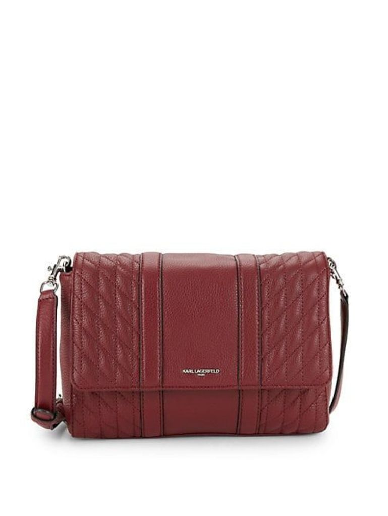 Diamond Quilted Leather Crossbody Bag