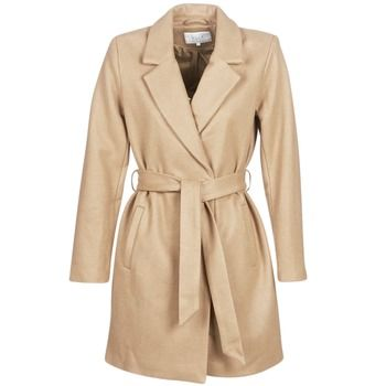 Vila  VILUS  women's Coat in Beige