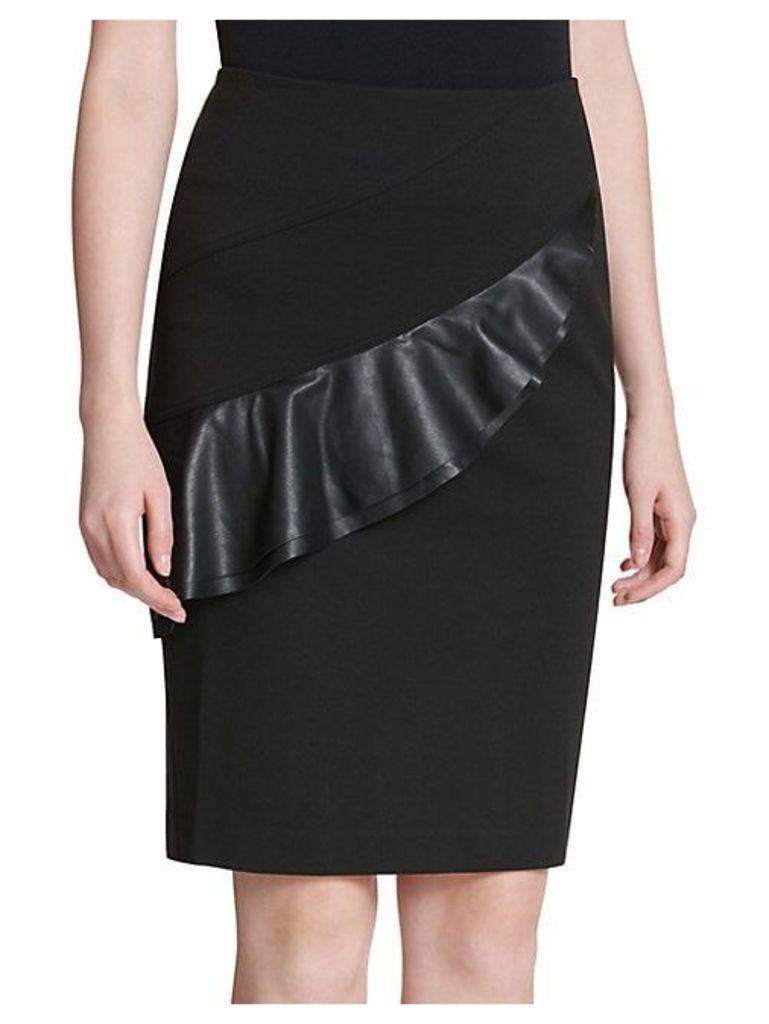 Flounced Pencil Skirt