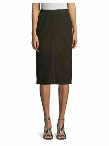 Kavita Suede Pencil Skirt
