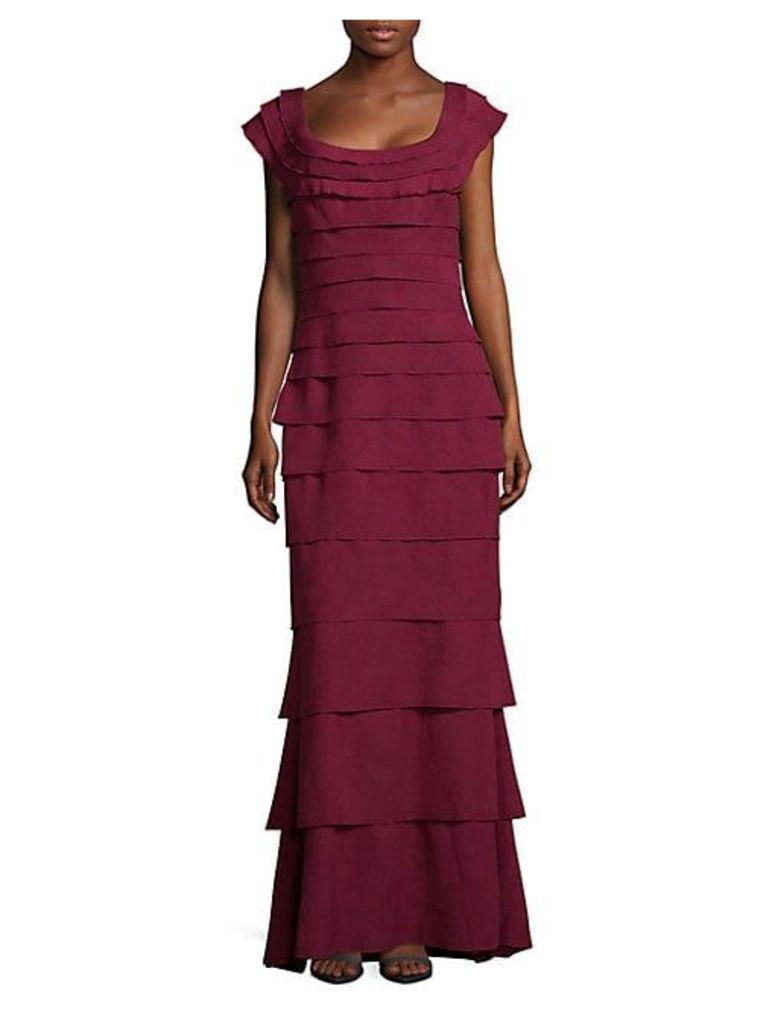 Tiered Floor-Length Dress