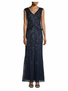 Beaded Floor-Length Dress