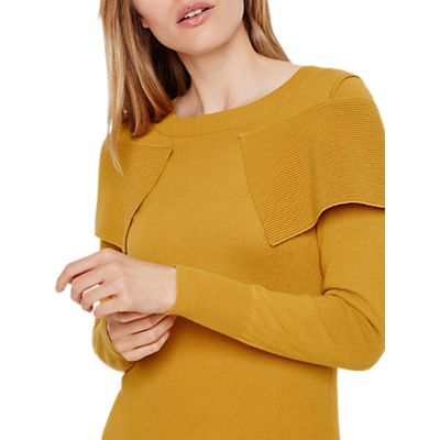 Damsel in a Dress Over Knitted Jumper, Mustard