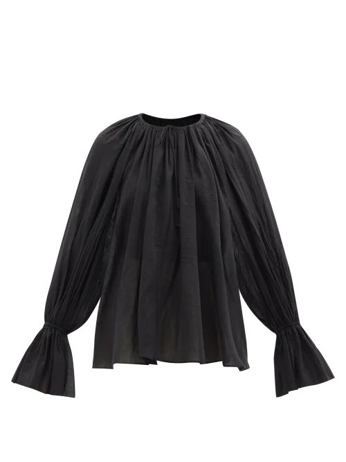Bottega Veneta - Intrecciato Leather Make Up Bag - Womens - Black