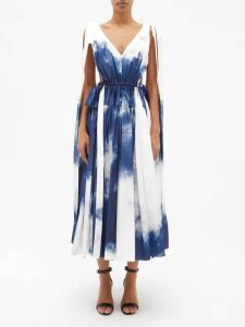 Adidas By Stella Mccartney - Essential Panelled Performance T Shirt - Womens - Black