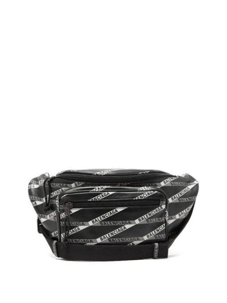Balenciaga - Explorer Printed Leather Belt Bag - Womens - Black Grey