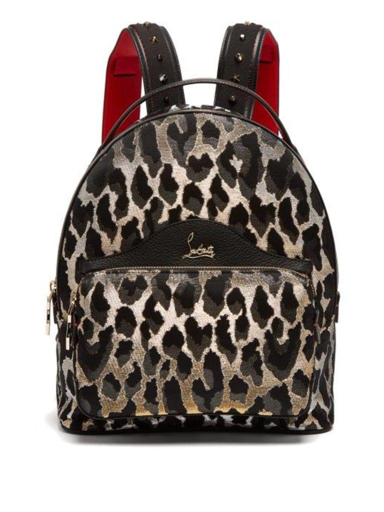 Christian Louboutin - Backloubi Small Leopard Brocade Backpack - Womens - Leopard