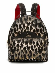 Christian Louboutin - Backloubi Small Leopard Brocade Backpack - Womens - Leopard