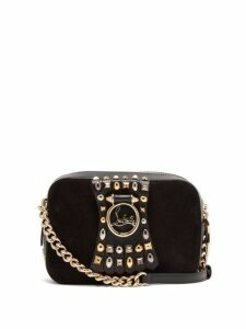 Christian Louboutin - Rubylou Embellished Leather Mini Cross Body Bag - Womens - Grey Multi