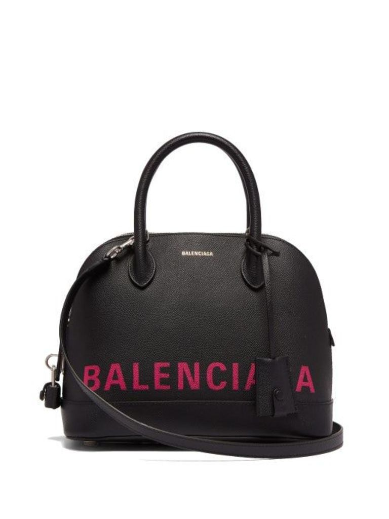 Balenciaga - Ville S Leather Bag - Womens - Black Multi