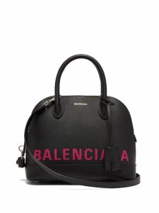 Balenciaga - Ville S Leather Bag - Womens - Black Multi