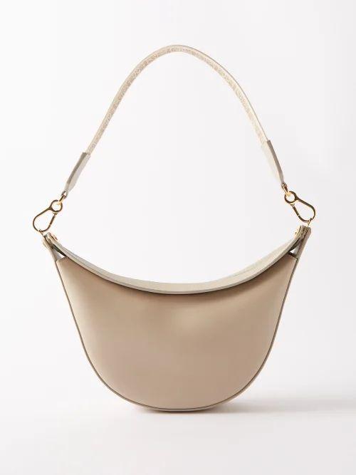 Staud - Mini Moreau Macramé And Leather Bucket Bag - Womens - Black