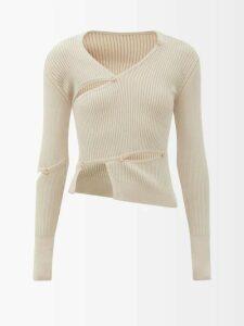 Kalita - Poet By The Sea Tie Waist Cotton Dress - Womens - Light Green