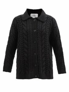 Athena Procopiou - In The Still Of The Night Floral Print Silk Dress - Womens - Black Print